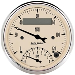 Auto Meter 1881 Antique Beige Air-Core Tach/Speedometer Combo Gauge