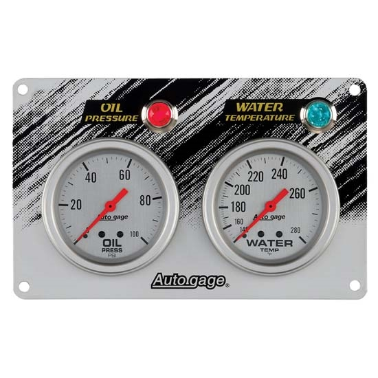 Auto Meter 7065 Auto Gage Mechanical 2 Gauge Race Panel