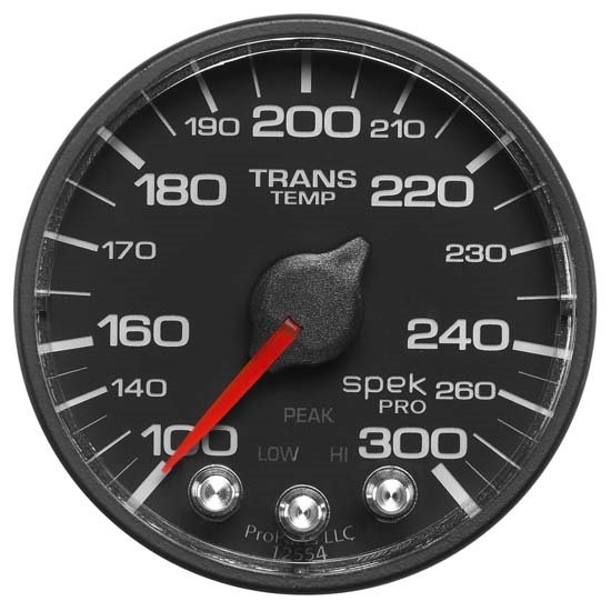 Auto Meter P342328 Spek-Pro Digital Stepper Motor Trans Temp Gauge