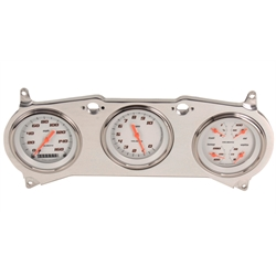 Classic Instruments CV64VSW White Velocity Series Gauge Set, 1964-65 Chevelle