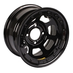Bassett 13 x 7 Beadlock Racing Wheel, 3 Backspace, Black 4 on 4.25