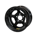 Bassett 50LC55L 15X10 Inertia 5 on 4.75 5.5 In BS Black Beadlock Wheel
