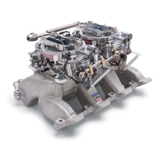 Edelbrock Air Scoop : Edelbrock rpm air gap dual quad intake manifold