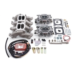 Edelbrock 2068 RPM Dual-Quad Manifold Carb Kit for Small Block Chevy LS1