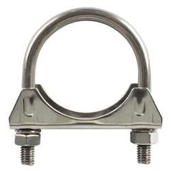 Raw Stainless Steel Muffler/Exhaust Clamp, 2.00 Inch