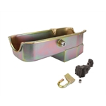 Small Block Chevy Claimer Oil Pan w/ Plug Combo, Hi-Vol. Pump, RH Dipstick