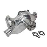Speedway Small Block Chevy Short Aluminum Water Pump, Polished