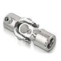 Sweet Mfg Chrome Steering U-Joint, 1 DD to 3/4 DD, Ididit/Flaming River Column