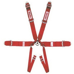 Garage Sale - Simpson Black Six Way Cam-Lock Harness, Pull-Up, Red