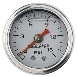 Auto Meter 2175 Auto Gage Mechanical Pressure Gauge, 1-1/2 Inch, 0-15