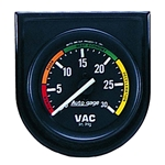 Auto Meter 2337 Auto Gage Mechanical Vacuum Gauge w/Panel, 2 Inch