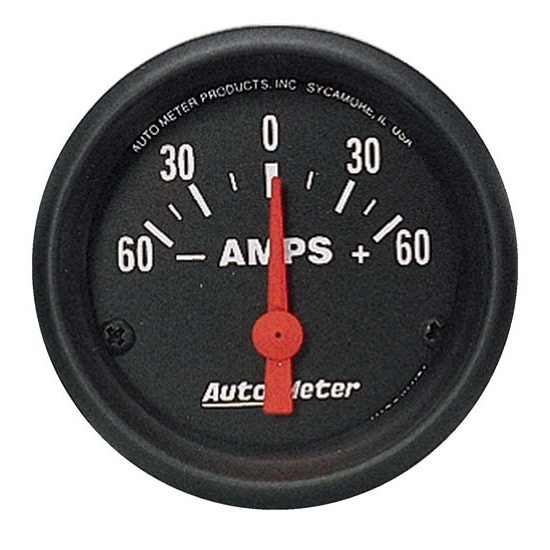 Auto Meter 2644 Z-Series Air-Core Ammeter Gauge, 60A, 2-5/8 Inch