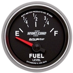 Auto Meter 3616 Sport-Comp II Air-Core Fuel Level Gauge, 2-1/16 Inch