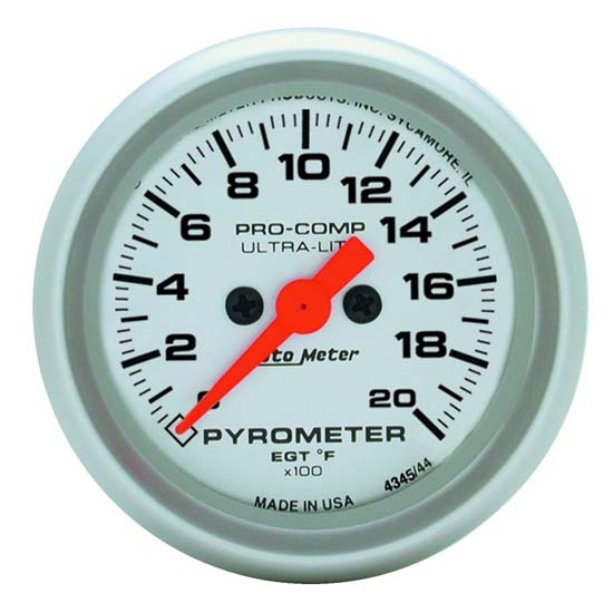 Auto Meter 4345 Ultra-Lite Digital Stepper Motor Pyrometer Gauge