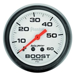 Auto Meter 5705 Phantom Mechanical Boost Gauge, 60 PSI, 2-1/16 Inch