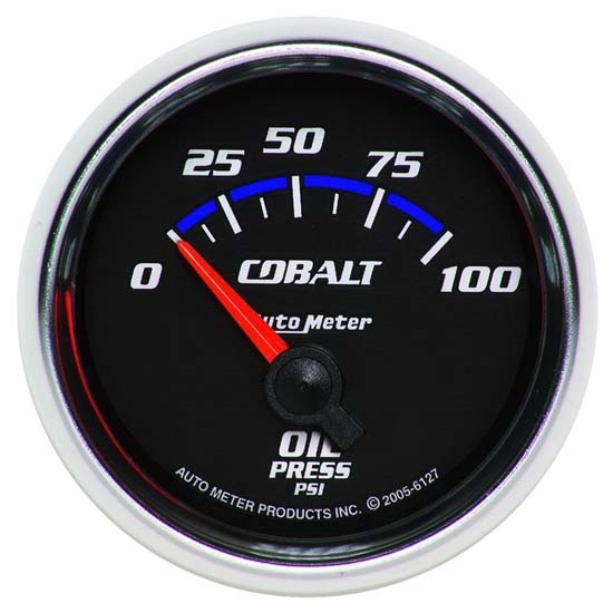 Auto Meter 6127 Cobalt Air-Core Oil Pressure Gauge, 2-1/16 Inch