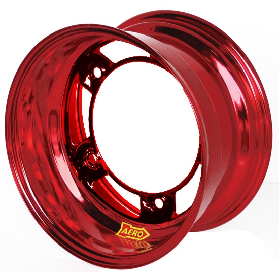 Aero 51-980540RED 51 Series 15x8 Wheel, Spun, 5 on WIDE 5, 4 Inch BS