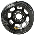 Bassett 47SN3B 14X7 D-Hole 5on100mm 3 In. Backspace Black Beaded Wheel