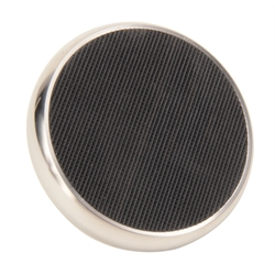 Brake Pedal Pad, Round, Stainless Steel