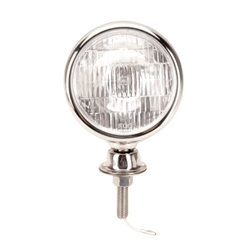 Stainless Steel Tear Drop 12 Volt Fog Light, Clear Lens