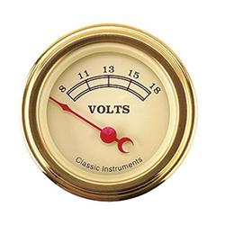Classic Instruments VT30GSLF-D Vintage Battery Voltage Gauges