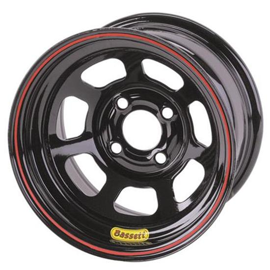Bassett Pony-Mini Stock Wheel - 13x7, 4 on 4 1/4 Inch, Black