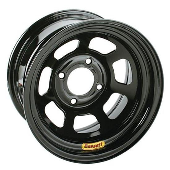 Bassett Pony-Mini Stock Wheel - 13x7, 4 on 4 1/2 Inch, Black