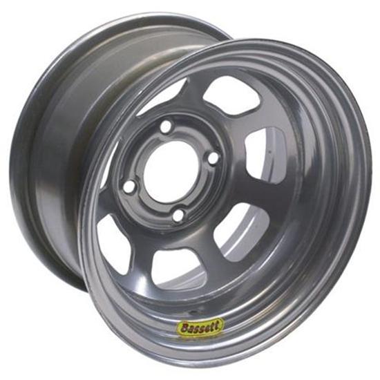 Bassett Pony-Mini Stock Wheel - 13x7, 4 on 4 1/2 Inch, Silver