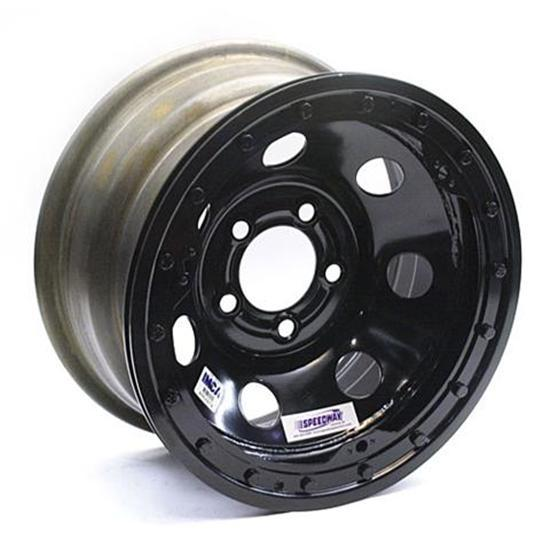 Speedway IMCA Approved Beadlock Wheel, 15x8, 5 on 4-1/2 Inch