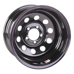 Black Circle Track Wheel, 15x7, 5 on 4 1/2 Inches, Non-Beadlock