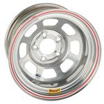 Bassett 15 x 8 Silver 5 on 5 D-Hole IMCA Approved Wheel, 4 Offset