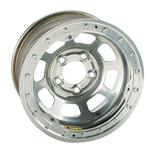 Bassett Wissota Certified 15 Inch Wheel, Beadlock, 15x8, 5 on 5, Silver