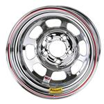 Bassett Chrome 15 Inch Wheel - 15x8, 5 on 5 D-Hole, Non Beadlock