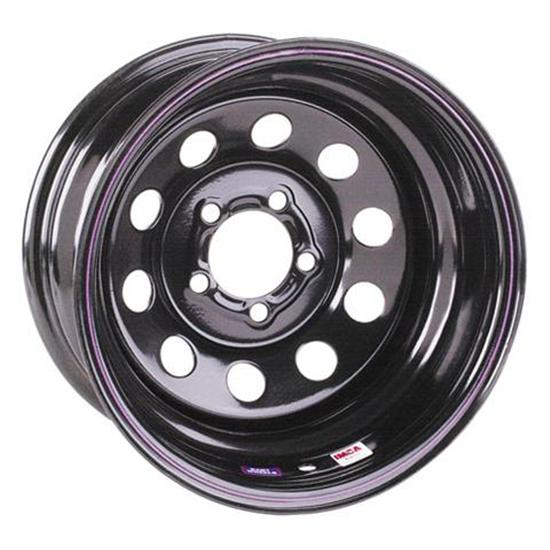 Black Circle Track Wheel, 15x7, 5 on 4 3/4 Inches, Non-Beadlock