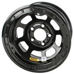 Bassett D-Hole IMCA Approved Wheels, 15 x 8, 5 on 5, Beadlock, Black