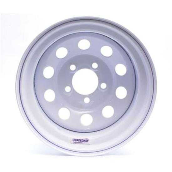 White Circle Track Wheel, 15x8, 5 on 4 3/4 Inch, Non-Beadlock