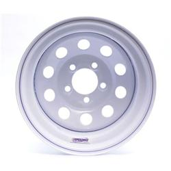White Circle Track 15 Inch Wheel, 15x8, 5 on 4 3/4, Non-Beadlock