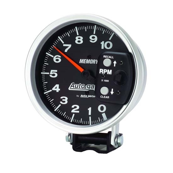 auto meter 233902 autogauge series memory tachometer 5 inch diameter free shipping speedway