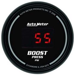 Auto Meter 6370 Sport-Comp Digital Digital Boost Gauge, 60 PSI, 2-1/16