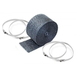 DEi 010119 Exhaust Pipe Wrap and Locking Ties Kit, 2 In x 25 Ft, Black