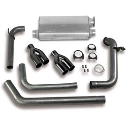 Hooker 16811HKR Cat-Back Exhaust System, Natural Finish