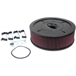 K&N Filters 61-2020 Flow Control Air Cleaner-Holley 2BBL no Choke Horn