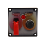 Longacre 44611 Flip-Up Start/Ignition Switch Panel w/Pilot Light