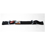 Garage Sale - Simpson Wrap-Around Lap Belts, Latch and Link, Pull-Down, Black