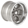 Team III Wheels ET Five-Window Wheel, 15x10, 5 on 4.5, 4 In. Backspace