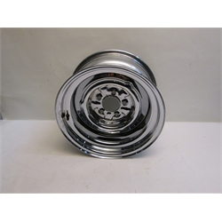 Garage Sale - O/E Style Hot Rod Steel Wheel, Chrome, 15 X 8, 5 On 4-1/2 Inch