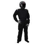 Garage Sale - Sparco Driver One-Piece Single Layer Racing Suit, Black, Size XL