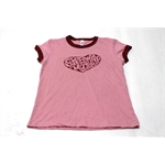 Garage Sale - Speedway Girls Heart Ringer T-Shirt, Size Large