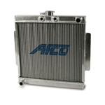 AFCO 80206 Micro/Mini/Midget Radiator, Front Mount w/ 1 Inch Push On