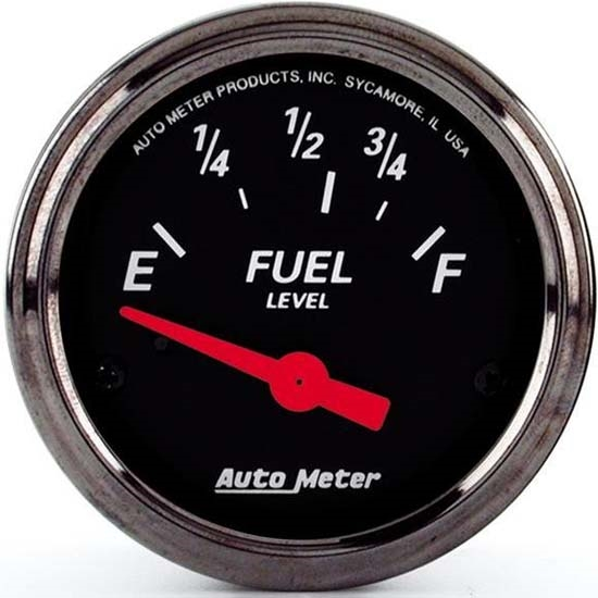 Auto Meter 1416 Designer Black Air-Core Fuel Level Gauge, 2-1/16 Inch
